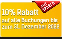 10% Rabatt auf jede Buchung für's Weihnachtsgeschäft (Aktion bis 31.12.2019)